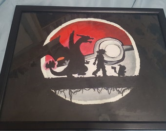 Pokémon pastel drawing