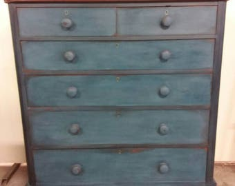 Deep sea blue chest of drawers