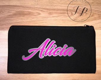 Personalised, Custom, Personalised pencilcase, School Pencilcase, Daycare Pencilcase, Neoprene Pencilcase FREE SHIPPING