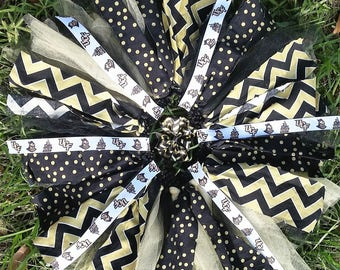 UCF University Of Central Florida Knights Fabric/Tulle/Ribbon Tutu Skirt Accessorized with Matching Hairbow