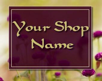 Wildflower Banner Set, Floral Banner Set, Shop Banner Set, Banner Set, Graphic Design, Custom Banner, Banner Design, Cover Photo,