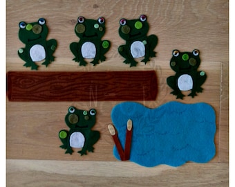 Five Little Speckled Frogs Felt Song