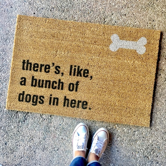 Funny dog lovers door mat