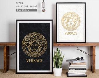 Fashion Logo • VERSACE • Versace Print Versace Poster Versace Art Versace Logo Company Logos Famous Brand Logo Fashion Brand Symbols