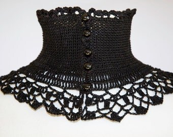 Black style collar Victorian