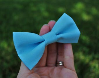 Baby blue clip-on bow tie, powder blue bow tie, baby bow tie, toddler bow tie, boy's bow tie, men's bow tie, ring bearer bow tie