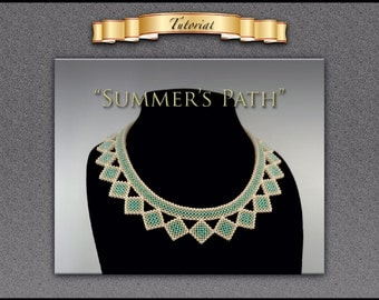 """Tutorial/pattern for """"Summer's Path"""" with matching earrings"""
