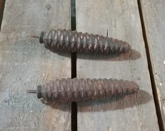 Vintage Coo Coo Clock Weights, Old Coo Coo Clock Weights, Pine Cone Clock Weights, Vintage Clock Weights, Old Coo Coo Clock