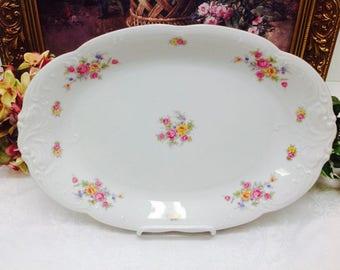 Wawel Vienna Garlandia Fine Porcelain platter made in Poland.