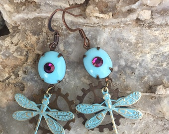 Bionic Eye Dragonfly Earrings