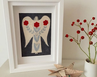 Limited Edition Print, Midnight Folk Angel