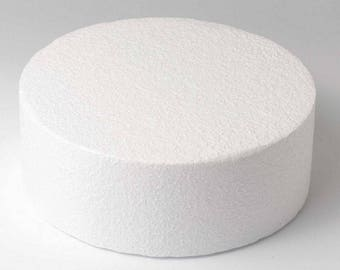 Dummy round Ø 30 cm, height 7 cm Polystyrene FUNCAKES Support