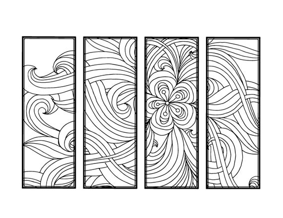 DIY Bookmarks Printable Coloring Page Adult Coloring Pages