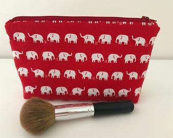 Elephant makeup bag, cosmetic bag