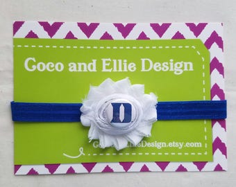 duke university headband-duke headband-duke for baby-baby duke-duke baby shower gift-baby duke headband-newborn duke/duke for girl