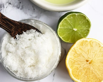 Coconut Citrus Sorbet, Body Scrub, Sugar Scrub, Natural Skincare, Exfoliating