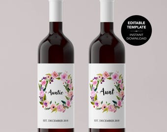 Weinetikett vorlage etsy for Avery wine label templates
