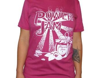 Power Jam roller derby T-shirt - Pink