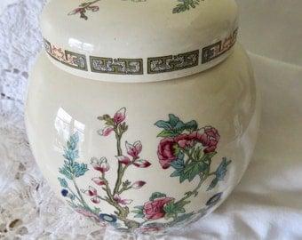 Sadler Ginger Jar Indian Tree Pattern Made in England