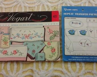 2 vintage, Vogart craft, embroidery patterns.