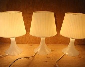 Vintage Ikea LAMPAN Table Lamps/Set of 3/ Plastic Lamp/ Ambient Lighting/1990/Night Light/Ikea Lamps