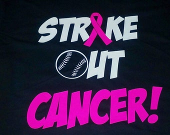 Strike out cancer breast cancer awareness shirt