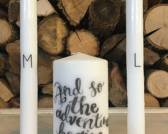 The adventure begins Unity Candle