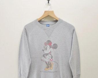 Vintage Minnie Mouse Disney Sweatshirt Funny Cartoon Animation Sweater Size L