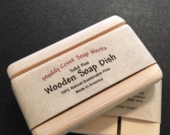 "All Natural Pine Soap Dish - 2.5"" W x 4.0"" L (+/- .125"")"