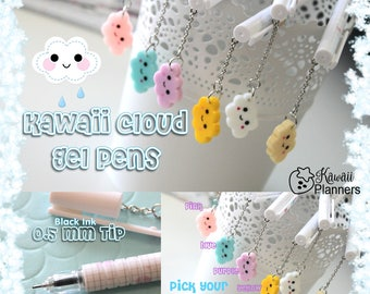 Planner Charm Pens - Kawaii Cloud