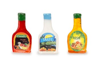 Miniature Salad Dressing, 3 Pieces