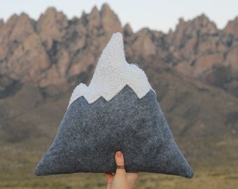 Original Mountain Pillow, Snowy Mountain Pillows, Home Decor, Nursery, Adventure, Soft Mountains, Mountains, Kids Toy, Play