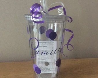 Personalised Name Tumblers with Straw Great for a gift
