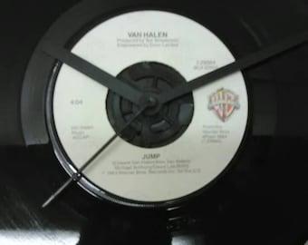 Van Halen 45 Record Clock - Jump