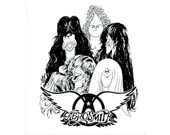 RARE Vintage AEROSMITH Sticker, Steven Tyler, Dream On, Bumper Sticker, Vinyl Sticker, Window Sticker, Band Sticker