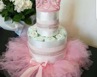Little Princess nappy cake baby shower gift girl newborn