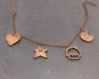 Super Mario Electroplated Charm Bracelet