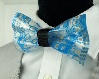 Spring Bow Tie, Blue Bow Tie, Spring Wedding Tie, Nerdy Wedding Gift, Nerdy Wedding Bow Tie, Something Blue, Future Husband gift (sku 109)