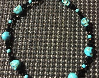 Turquoise Skull Anklet