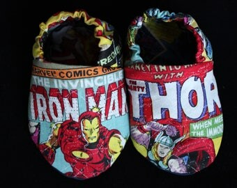 Marvel Comics baby shoes, Marvel Comics soft sole shoes, Marvel Comics crib shoes, Marvel Comics shoes