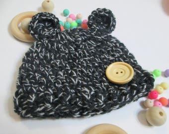 Crochet baby hat/Crochet Preemie baby hat/bear Baby hat/Hat premature/Hat crochet Preemie/newborn Hat/Gift/gift