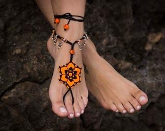 "Mandala Barefoot sandal ""Feubl"""