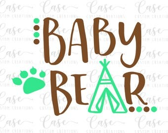 Baby Bear SVG File | Cricut & Silhouette Files | Custom SVG Files | Instant Download