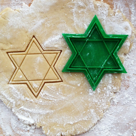 David Star cookie cutter. Jewish Star cookie stamp. Jewish cookies