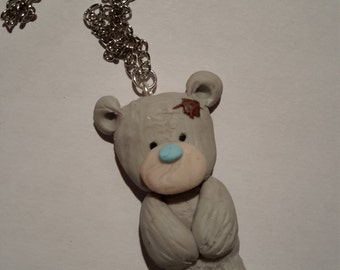 Teddy bear necklace in fimo
