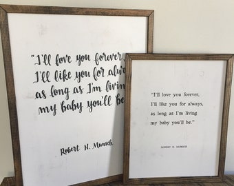 I'll Love You Forever | Nursery Sign