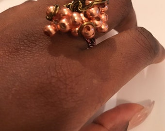 Copper And Antique Bronze Ring