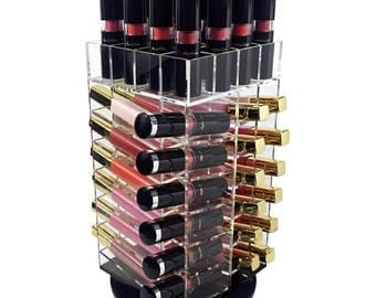 Ikee Design Acrylic Makeup Organizer Spinning Lipstick Holder and Storage Tower (SKU# COM663)