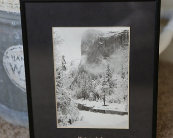 EL CAPITAN WINTER Ansel Adams photography photograph print reproduction frame wall decor art mountain Yosemite vintage nature gift home cool