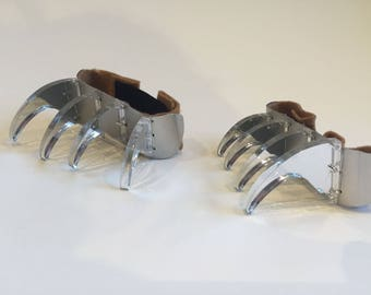 Comic Con Claws - Wolverine, Comic Claws, Superhero Claws - Acrylic Mirror Fantasy Claws Attach to Gloves!